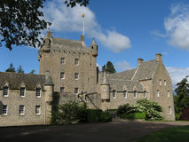 Cawdor Castle Scotland. A typical castle in the UK. Cawdor Castle is situated near Nairn and amidst a forest with spectacular trees Royalty Free Stock Photos