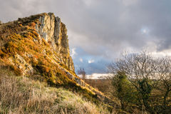 Cawfield Quarry face Royalty Free Stock Photography