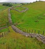 cawfields hadrian milecastle s墙壁 库存照片