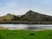 Cawfields Quarry in Northumberland, England Royalty Free Stock Photography