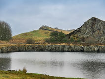 Cawfields Quarry in Northumberland, England Royalty Free Stock Photos