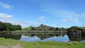 Cawfields villebråd i Northumberland arkivfoton