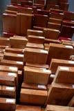Cawp stapelte Holz Stockbild