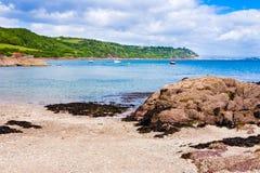 Cawsand海滩Cornwall 库存图片