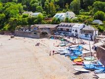 Cawsand strand Cornwall Fotografering för Bildbyråer