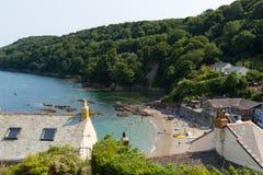 Cawsandstrand Cornwall Engeland het Verenigd Koninkrijk op het Rame-Schiereiland die Plymouth-Geluid overzien Stock Fotografie