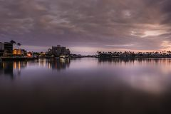 Caxambas wodowanie Łódkowaty wschód słońca Obraz Stock