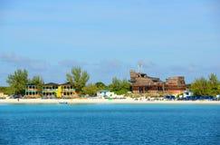 Cay полумесяца, Багамские острова Стоковое фото RF