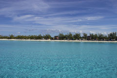 Cay della mezza luna, Bahamas Immagini Stock
