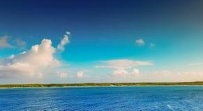 Cay della mezza luna, Bahamas 10 ottobre 2017 Fotografia Stock Libera da Diritti