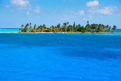 Cay Haines в колумбийце Вест-Индии стоковые фотографии rf