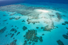 Cay in the reef. Cay in the Great Barrier Reef in Australia Royalty Free Stock Image
