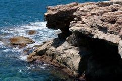 Cay. Rocky beach in Sliema Malta Stock Photography
