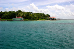 Cay van de jachthaven Eiland stock foto's