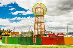 CAYAMBE, ECUADOR - SEPTEMBER 05, 2017: Beautiful colorful metallic structure located in the midle of a park in the city Stock Photo