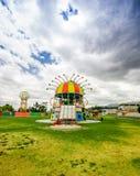 CAYAMBE EKWADOR, WRZESIEŃ, - 05, 2017: Piękna kolorowa kruszcowa struktura przedstawicielstwo diablada festiwal Zdjęcie Royalty Free