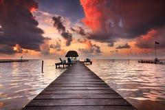 Caye Caulker Belize Arkivfoton