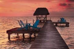 Caye Caulker Belize Arkivfoto