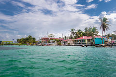 Caye Caulker - Belize. Caye Caulker city in Belize Stock Image