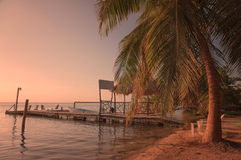 Caye Caulker Belize. Caye Caulker is a small 2 mile long island in Belize Stock Photos