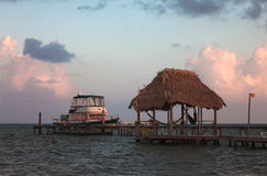 Caye Caulker Belize. Caye Caulker is a small 2 mile long island in Belize Royalty Free Stock Photos