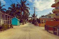 Caye caulker street Stock Photos