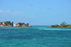Caye Caulkerlandskap arkivfoton