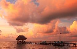 Caye doszczelniacz Belize Obrazy Royalty Free