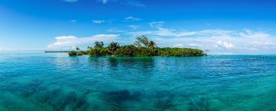 Caye doszczelniacza ocean w Belize obraz royalty free