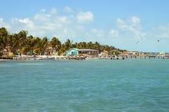 Caye-Kalfaterer, Belize, Mittelamerika stockfotos