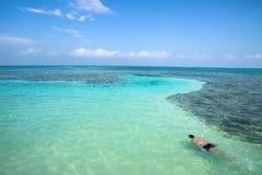 Cayebreeuwijzer, Belize Royalty-vrije Stock Fotografie