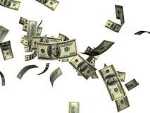 Cayendo 100 cuentas de dólar   Fotografía de archivo libre de regalías