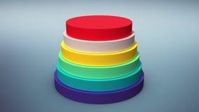 Cayendo seis cilindros del círculo diagram para el templete de la presentación (la alfa incluida) libre illustration