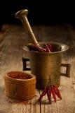 cayenne malde pepparfröskidapå ett pund royaltyfria foton