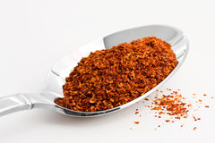 Cayenne Pepper. Spoon full of cayenne pepper Stock Photography