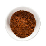Cayenne pepper in bowl isolated w/ clipping path Royalty Free Stock Photos