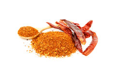 Cayenne pepper and dried chili Royalty Free Stock Photography