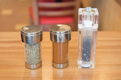 Cayenne pepper Oregano and black pepper Royalty Free Stock Photos