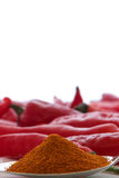Cayenne Pepper Powder on the tablespoon Royalty Free Stock Image