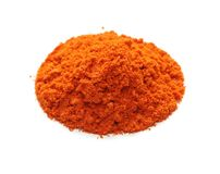 Cayenne pepper , red pepper , spice. On white background Stock Image