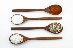 Cayenne pepper, salt and sugar Stock Photo