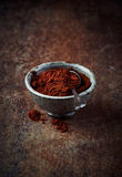 Cayenne pepper in a ceramic dish Stock Images