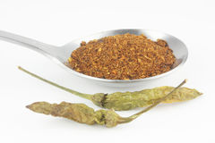 Cayenne pepper in spoon Stock Photo