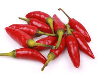 Cayenne pepper. On white background Royalty Free Stock Image