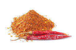 Cayenne pepper on white background stock photos