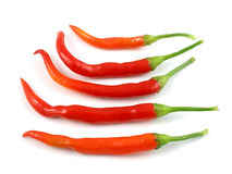 Cayenne peppers Stock Images