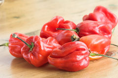 Cayenne peppers Stock Photo