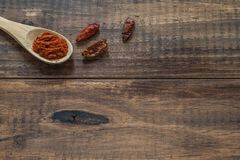 Cayennepeper en paprika royalty-vrije stock foto