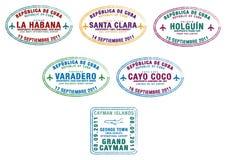 cayman νησιά της Κούβας απεικόνιση αποθεμάτων