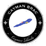 Cayman Brac circular patriotic badge. Royalty Free Stock Images
